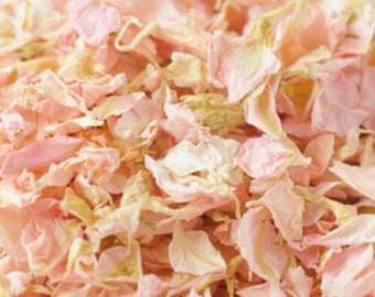 1 Litre Natural Wedding Confetti Eco-Friendly Biodegradable Dried Delphinium Petals Candy Floss Pink
