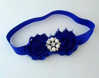 Royal Blue Baby Headband - Royal Blue Headband - Blue Baby Headband - Newborn Headband - Flower Girl Headband - Dressy Headband - Royal Bow