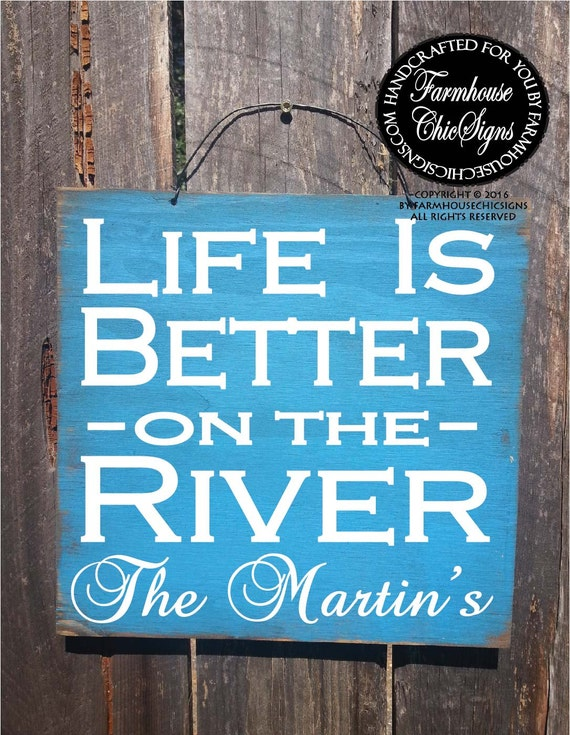 river signs, river house decor, river house sign, river house, river life, river decorations, river house gift, river decor, river gift, 240