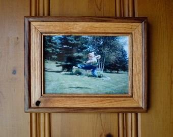 "5""x 7"" Reclaimed Oak and Walnut Frame"