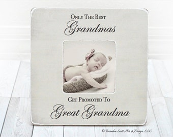grandparent frame new grandparent frame great grandma frame grandpa frame the best grandmas get promoted to great grandma mothers day gift