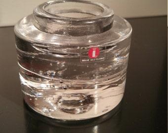 iittala Arkipelago glass candle holder by Timo Sarpaneva