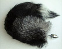 Butt Plug, POINT BLACK, Fox Tail Butt Plug, MATURE, Detachable or Permanently Attached, Fetish Wear, Kitty Tail, Cat Tail, Cosplay, Neko