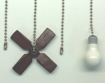 Fan Pulls - Free Shipping! Ceiling FanDanglers (14 Varieties) PURPLEHEART - Never Pull The Wrong Chain Again!