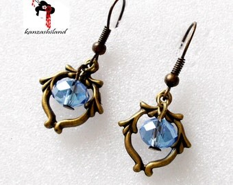 Outstanding Victorian style with Blue Crystal beads