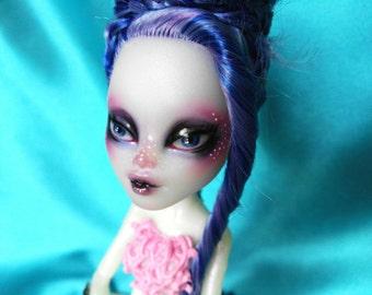 Hand painted Monster High Doll Siena Von Boo Mermaid Repaint Faceup