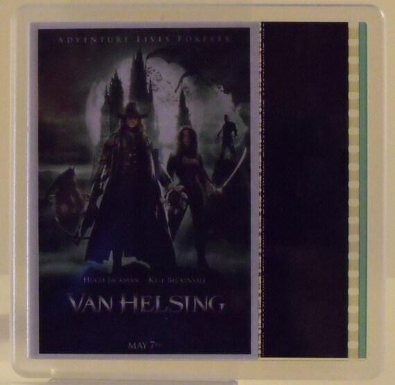 Van helsing Hugh Jackman Kate Beckinsale David Wenham 35mm film cell coaster