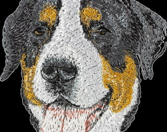 Greater Swiss Mountain Dog - Embroidery, patch with the image of a pedigree dog.