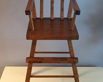 Vintage doll highchair, doll high chair, doll chair