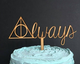 Harry Potter Cake Topper, Harry Potter Wedding Cake Topper, Always Cake Topper, Harry Potter, Harry Potter Wedding, Wedding Cake Topper