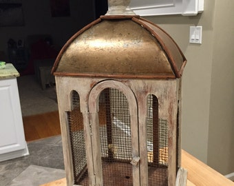 Reclaimed decorative bird cage