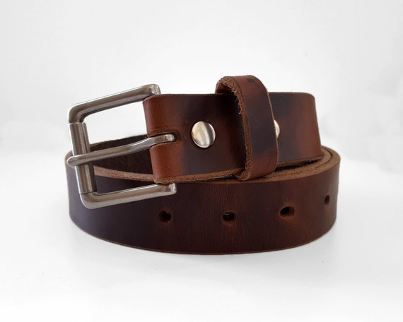 brown chromexcel horween leather belt 1 25 w