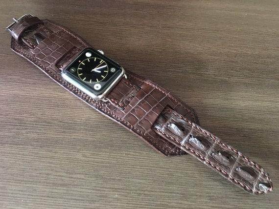 Apple Watch Band, Apple Watch Strap, iwatch, Vintage Brown, Leather Cuff Watch Band, full bund strap, Cuff Watch Strap, Apple Watch 42mm