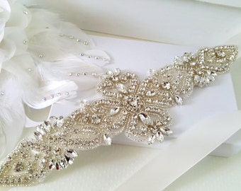 Wedding Belt, Bridal Belt, Sash Belt, Crystal Rhinestone Belt, Style 182