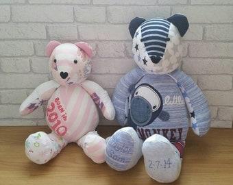 memory bear, keepsake bear, memory keepsake bear, bespoke memory bear, precious keepsake bear