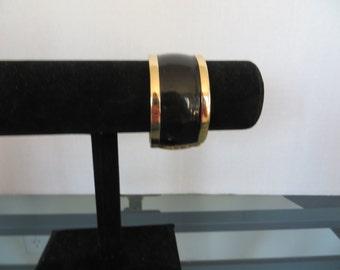 Vintage Bracelet Bangle Black Wide