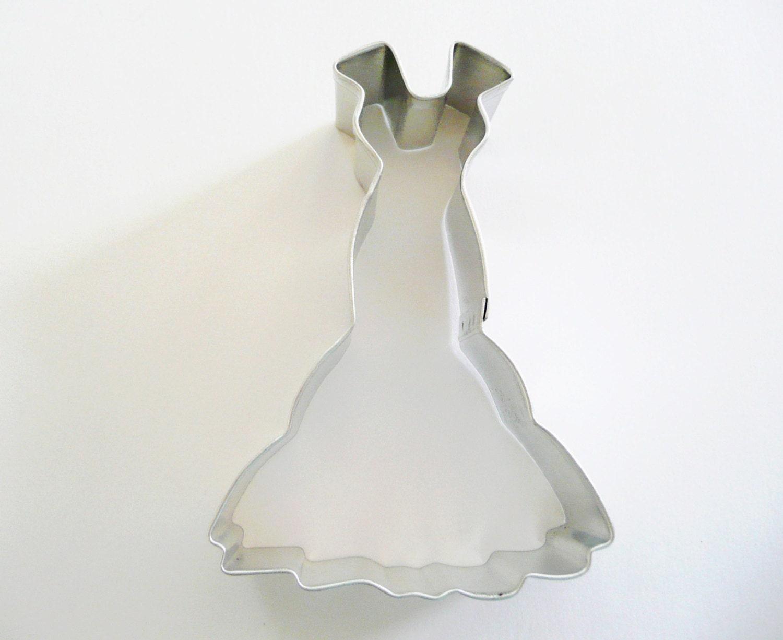Wedding Dress Cookie Cutter Formal Dress Cookie Cutter Texture Set ...