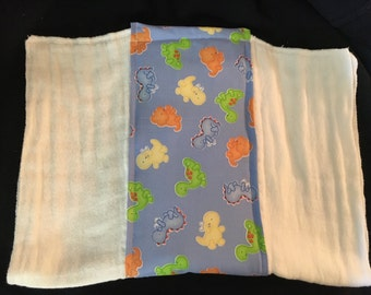 Blue Dinosaurs Burp Cloth