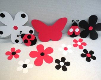 Ladybug Die Cuts (155pcs) - Embellishments, Ladybugs,Scrapbook Kits,Butterflies, Die Cuts, Ladybug Die Cuts, Scrapbooking