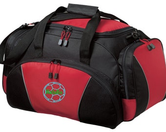 Soccer Gym Bag - Personalized - Monogrammed - Embroidered - Sports Bag - Sports Gift - Soccer Duffle Bag - BG91