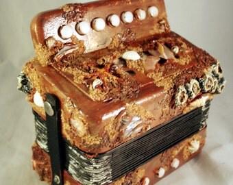 Sea Shanty Accordion Mermaid Squeeze Box Pirates Musical Instrument