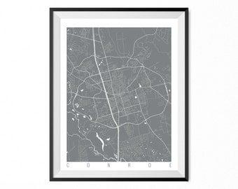 CONROE Map Art Print / Conroe City Poster / Conroe Wall Art / Texas/ Gift / Texas home decor