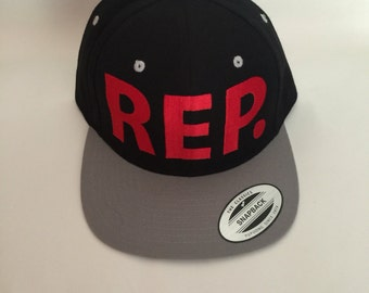 REP Red/Grey snapback