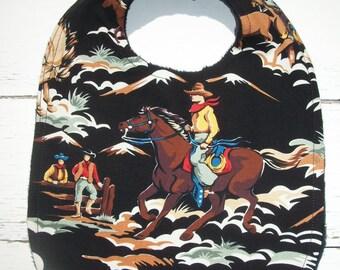 Cowboy Western Baby Bib Ready To Ship