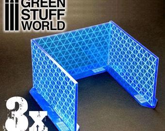 3x Big Energy Walls - Intense BLUE - Scenery Warhammer 40k Infinity Game