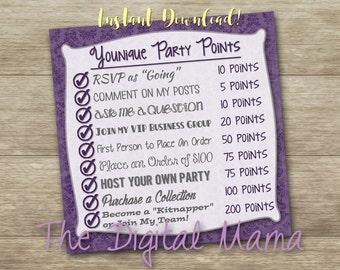 INSTANT DOWNLOAD - Younique Online Party Points Graphic - Younique Lash - Younique Facebook Party Graphic - Digital Download