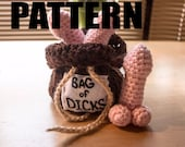 CROCHET PATTERN for Bag of Dicks. Mature content.