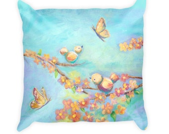Sweet Birds & Butterflies - Pillow