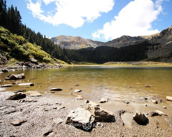 Williams Lake and Alpine Forest Landscape Photography Print, Southwestern Wall Art, Taos Home Decor