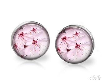 Earrings flowers - cherry blossom 9