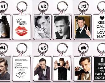 Matt Smith Keychain Key Ring - Many Designs To Choose From