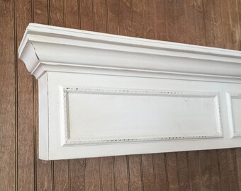 Hand Made Fireplace Mantel Shelf with Molding -Wall Shelf