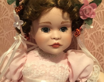 Porcelain Collectible Doll - A Party for Sarah - by Paradise Galleries