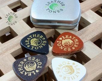 Leather Tones Tin of 4 Ukulele Picks