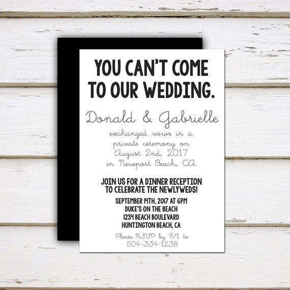 Leah Printable Elopement Reception By MellieBellieBoutique