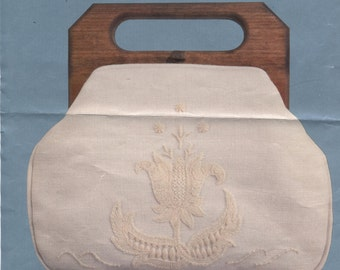 White on White Jacobean Bermuda Bag Cover to Embroider by Cathy
