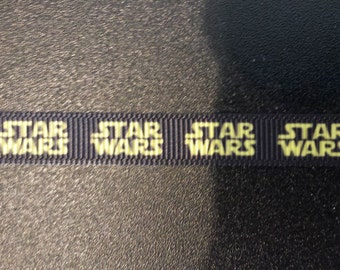 3/8 Inch Star Wars Inspired Grosgrain Ribbon for shoelaces, baby clothes, etc.