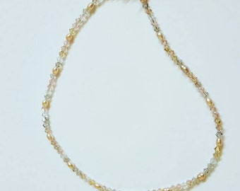 Pink Necklace With Toggle Clasp