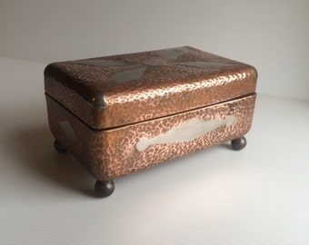 Hand made copper and steel treasure/jewelry box