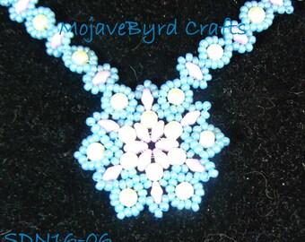 "18"" One Medallion Handbeaded Necklace"