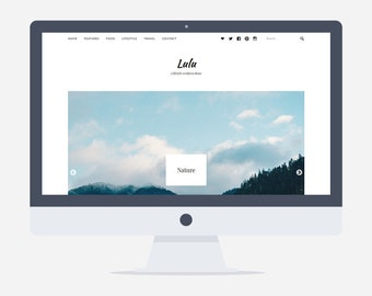 Lulu - Blog Wordpress Theme - Premade - Self Hosted - Wordpress Blog Theme - Responsive