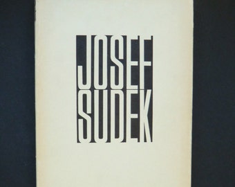 Josef Sudek - Photography 1956 (Fotografie) - first edition with jacket