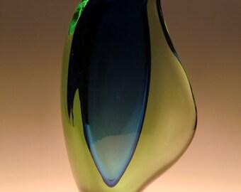 Czech Bohemian Skrdlovice Art Glass Vase by Maria Stahlikova and Milena Veliskova
