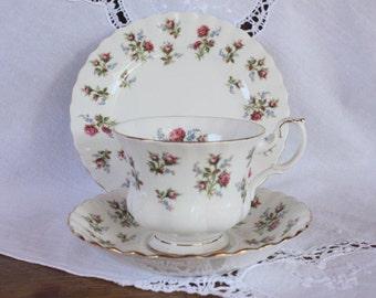 Vintage Royal Albert bone china trio ~ Winsome