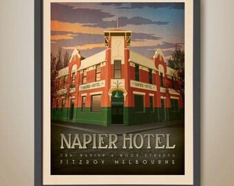 NAPIER HOTEL, Fitzroy, Melbourne. Melbourne Pub. Famous Pub. Melbourne Print. Fitzroy Pub.
