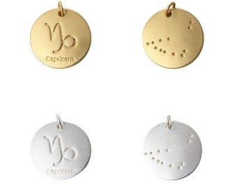24mm Capricorn Zodiac & Constellation Charm (3pc)